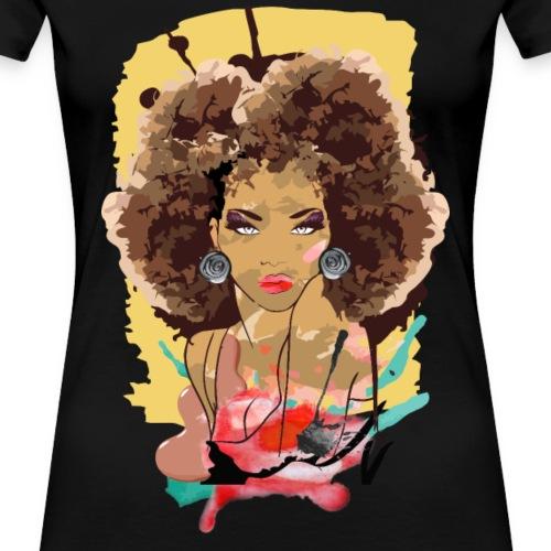 Afro Sass - Women's Premium T-Shirt