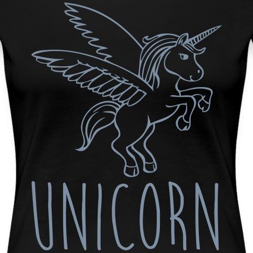 Unicorn Licorne - T-shirt Premium Femme