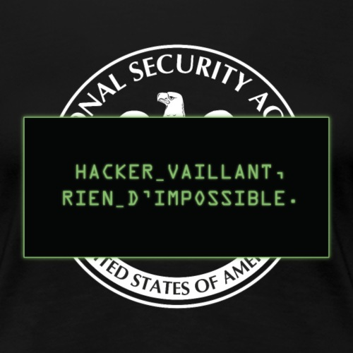 Hacker vaillant rien d impossible - T-shirt Premium Femme