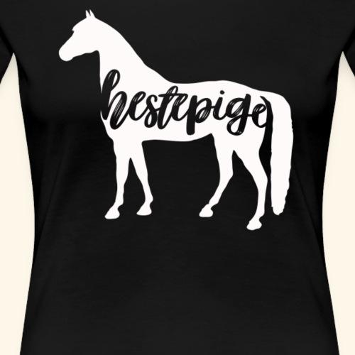 Hestepige - Dame premium T-shirt