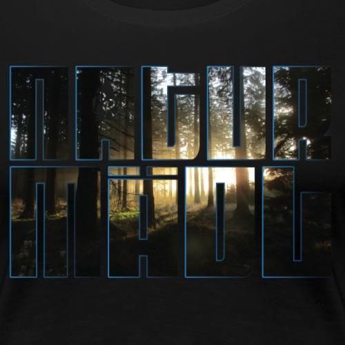 Naturmädl Wood - Frauen Premium T-Shirt