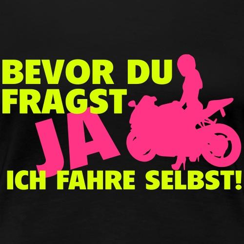 Motorrad Frau - Frauen Premium T-Shirt