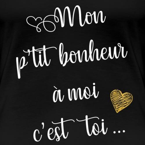 Bonheur à moi (blanc) - T-shirt Premium Femme