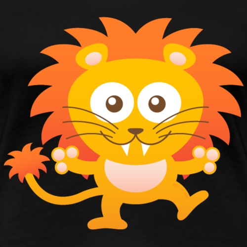 Smiling Cute Lion - Women's Premium T-Shirt