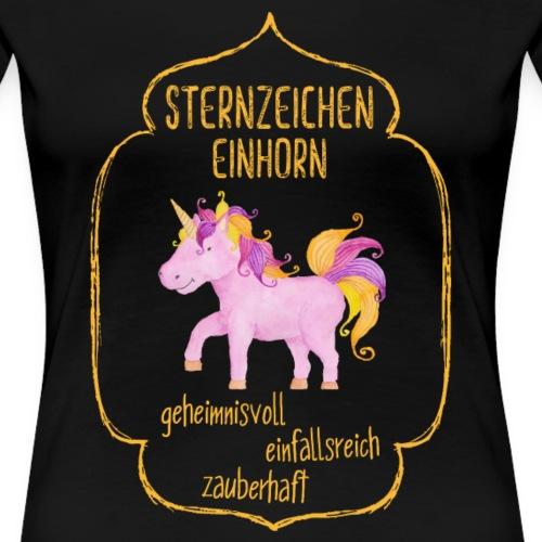 Sternzeichen Einhorn (gelb) - Frauen Premium T-Shirt