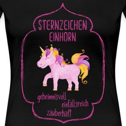 Sternzeichen Einhorn (pink) - Frauen Premium T-Shirt