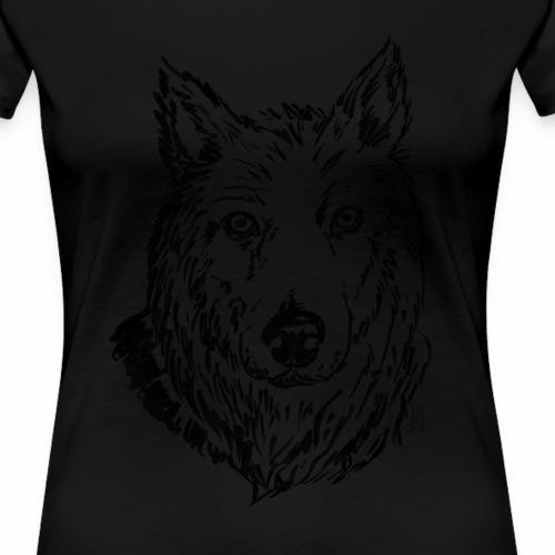 Il lupo - Maglietta Premium da donna