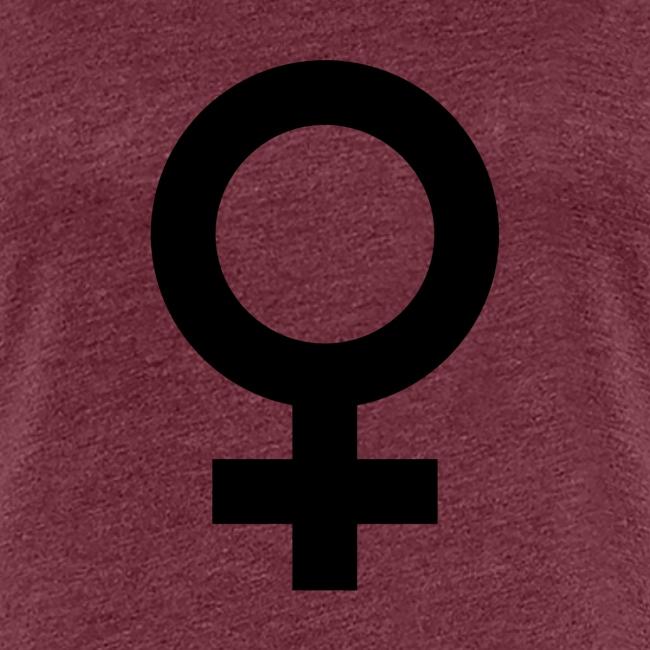 Symbole Femme noir
