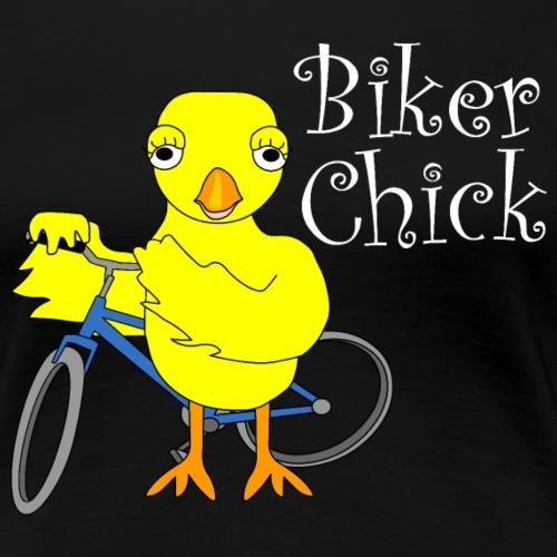 Biker Chick White Text