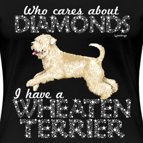 Wheaten Terrier Diamonds 4 - Women's Premium T-Shirt