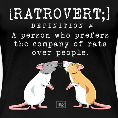 Ratrovert VI - Naisten premium t-paita