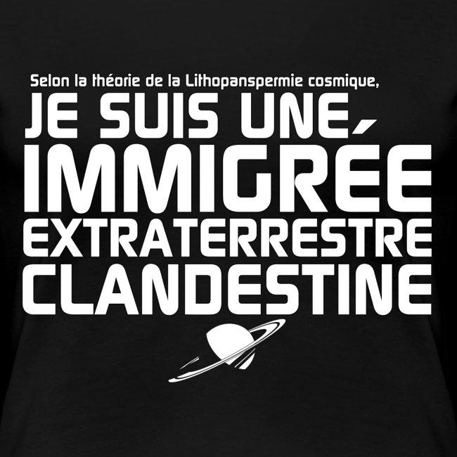 Je suis une immigrée extraterrestre