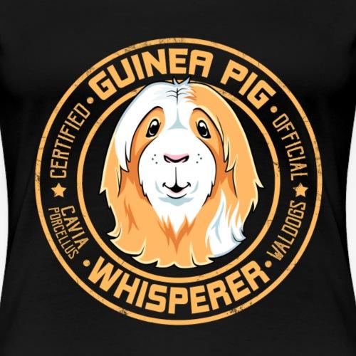 Guinea Pig Whisperer V - Naisten premium t-paita