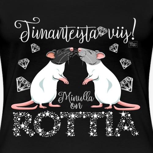 Dimangi Rottia I - Naisten premium t-paita