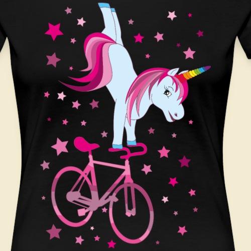 Kunstrad | Einhorn Handstand Pink - Frauen Premium T-Shirt