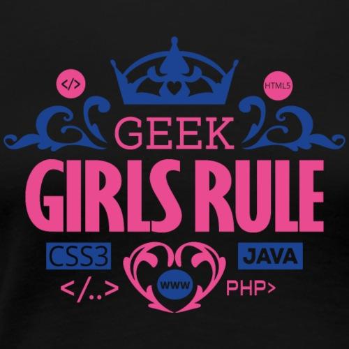 Geek Girls Rule - Frauen Premium T-Shirt