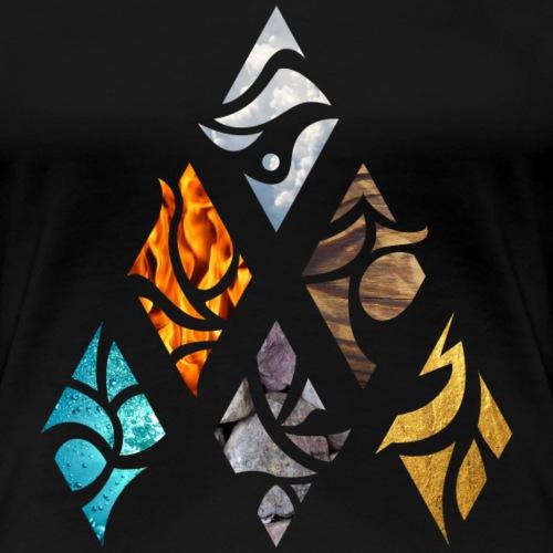 Six Elements of Nature - Frauen Premium T-Shirt