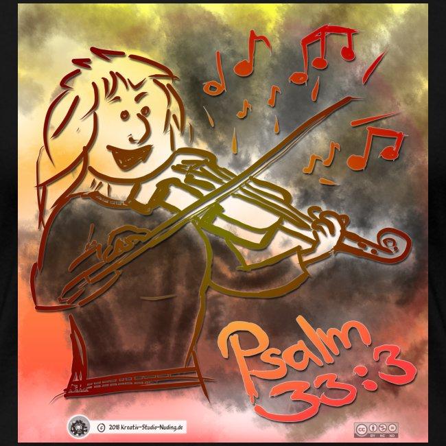 Design Geige Psalm 33:3