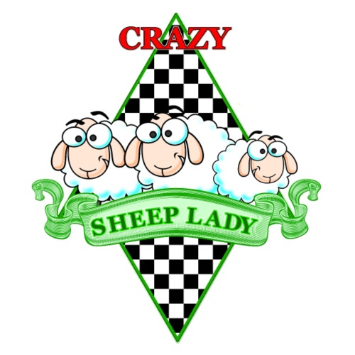 Crazy Sheeplady - Frauen Premium T-Shirt