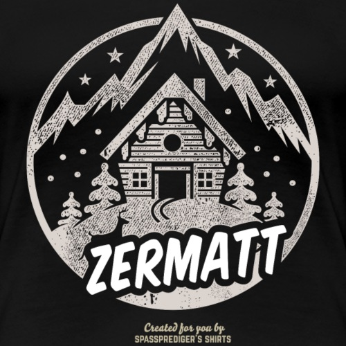 Apres Ski T Shirt Design Zermatt Schweiz - Frauen Premium T-Shirt