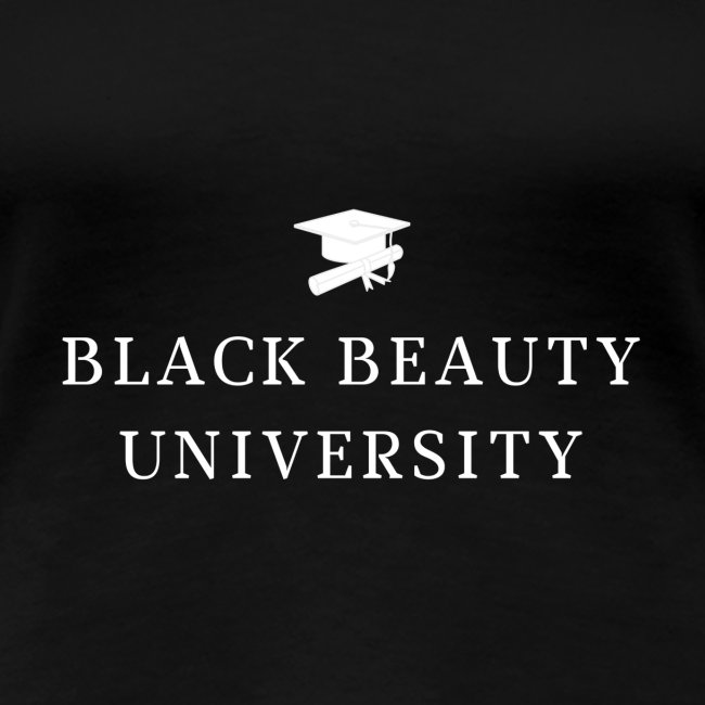 BLACK BEAUTY UNIVERSITY LOGO BLANC