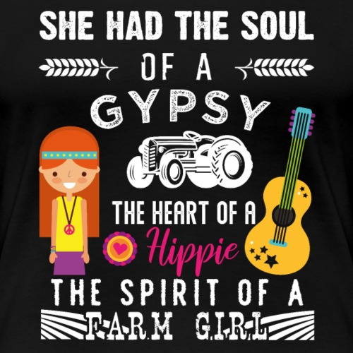 Gipsy Hippie Farm Girl - Frauen Premium T-Shirt