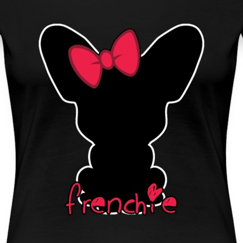 Black Frenchie - T-shirt Premium Femme