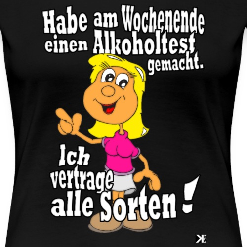 Alkoholtest Lustiges Frauen Mallorca 2019 Tshirt - Frauen Premium T-Shirt