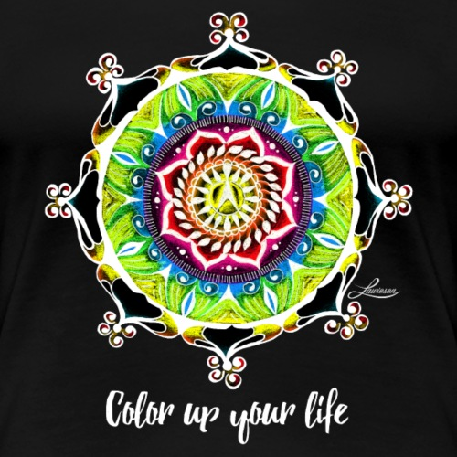 Color up your life –black - Frauen Premium T-Shirt