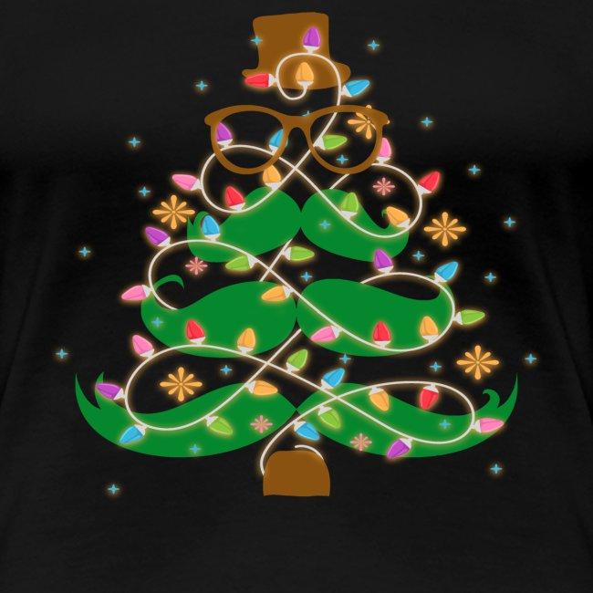 Mustache Holiday Tree