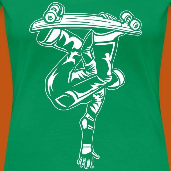 Skater / Skateboarder 03_weiß