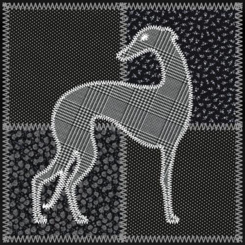 patchwork noir - T-shirt Premium Femme