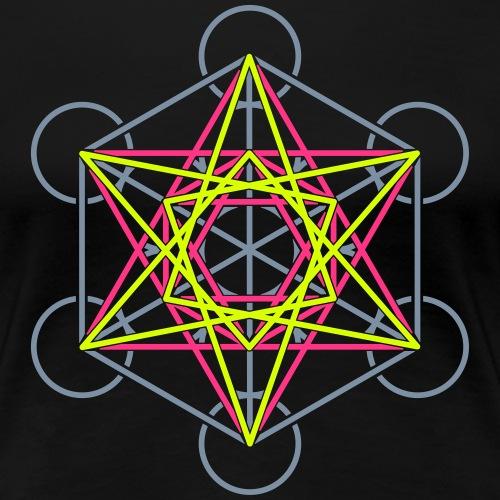 Metatron Cube 3 Colors - Camiseta premium mujer