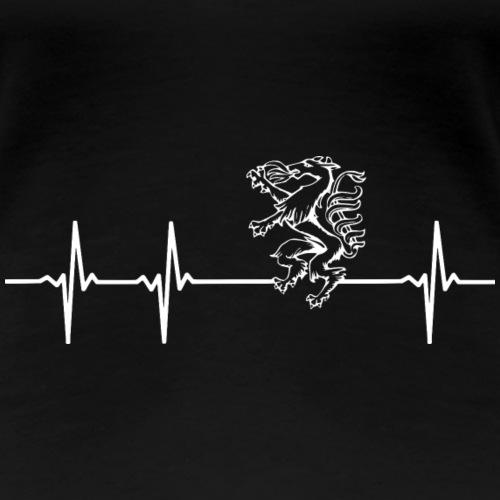 Herzschlag steirischer Panther Geschenk Steiermark - Frauen Premium T-Shirt