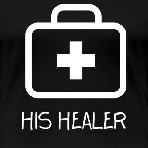 His Healer Gamer Couple - Frauen Premium T-Shirt