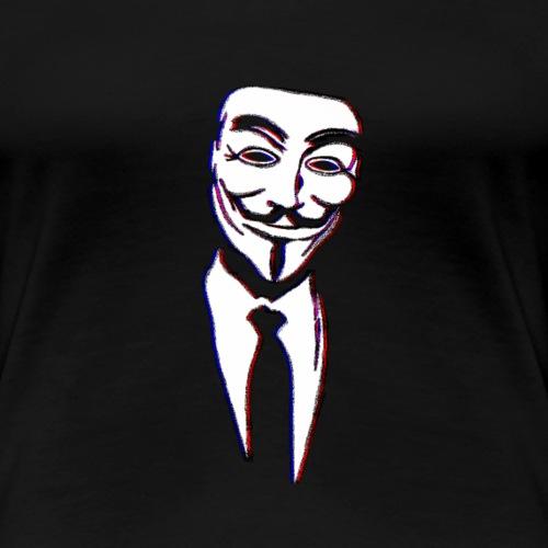 Anonymous Glitch - Frauen Premium T-Shirt