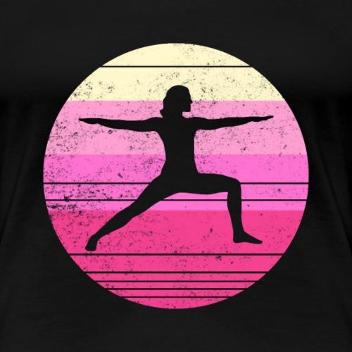 Yoga Træning Vintage Stil - Dame premium T-shirt