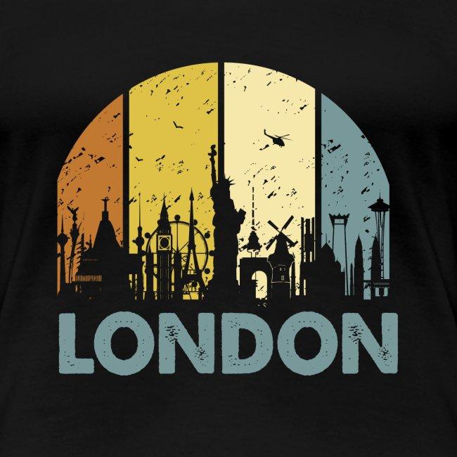 Vintage London Souvenir - Retro Skyline London