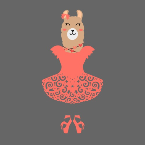Lama Baletnica Ballerina - Koszulka damska Premium