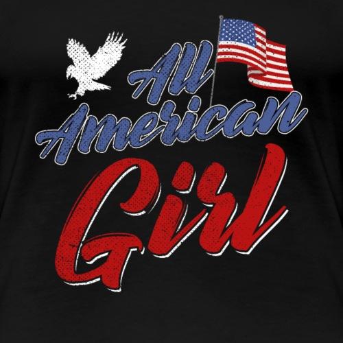 All American Girl 4th of July Patriot - Frauen Premium T-Shirt