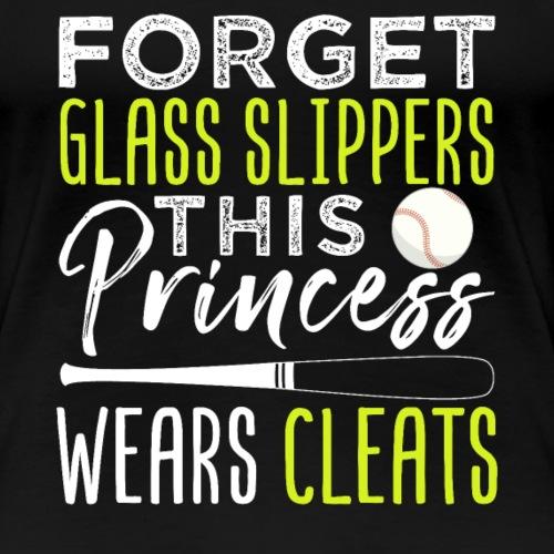 Princess Wears Cleats Baseball - Frauen Premium T-Shirt