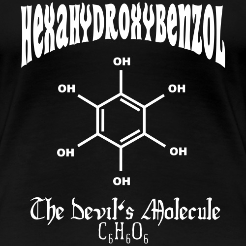 Hexahydroxybenzol - Frauen Premium T-Shirt