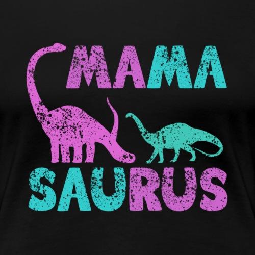 Mama Saurus v1 - Frauen Premium T-Shirt