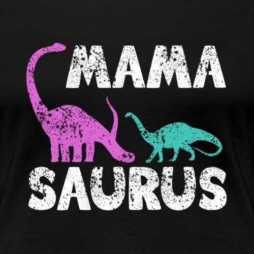 Mama Saurus v2 - Frauen Premium T-Shirt
