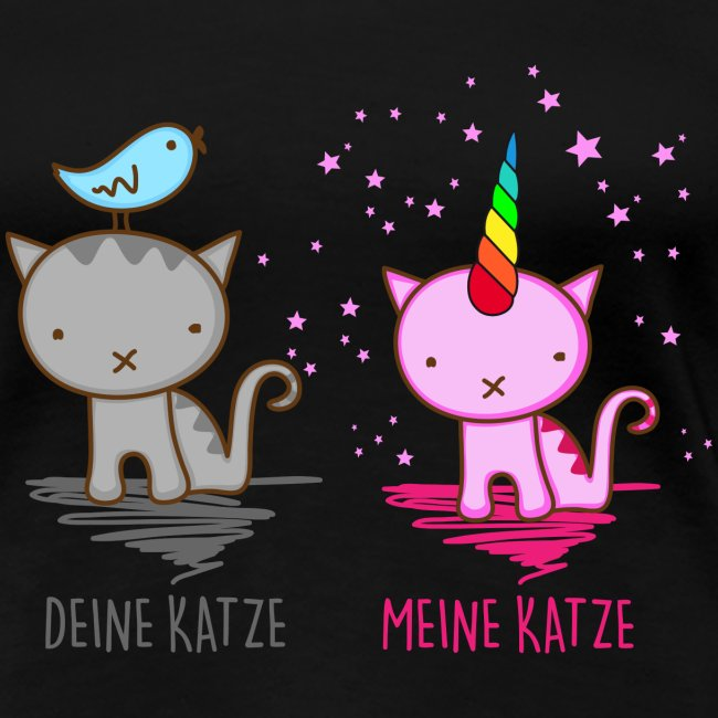 Vorschau: Deine Katze vs. Meine Katze - Frauen Premium T-Shirt