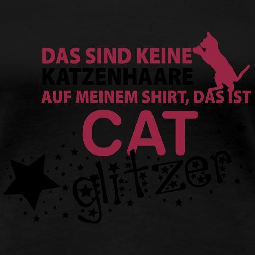 cat glitzer - Frauen Premium T-Shirt