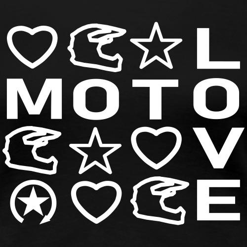 MOTOLOVE 9ML01 W - Koszulka damska Premium
