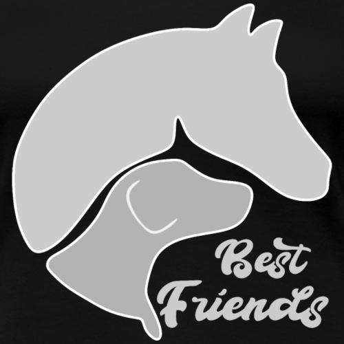 Hund und Pferd zusammen auf einem Design