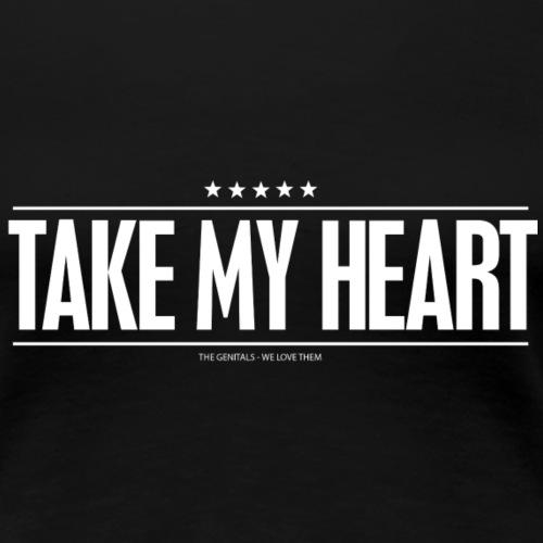 heart w - Dame premium T-shirt