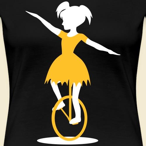 Einrad Girl - Frauen Premium T-Shirt